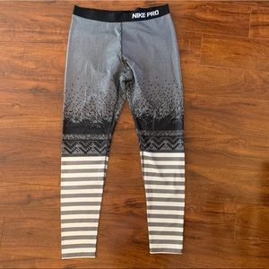 Nike Pants - Nike Pro Dri Fit Leggings XL Stripes